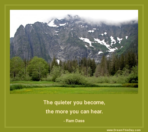 The Quieter You Become...