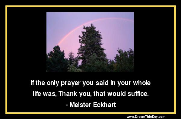 Daily Quotes: Thank You Prayer