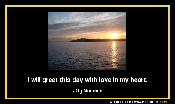i will greet this day with